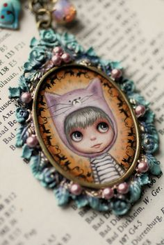 Kitty - custom Blythe cameo by Mab Graves | Flickr - Photo Sharing!