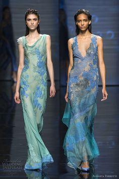 alberta ferretti spring 2013 rtw blue green gowns