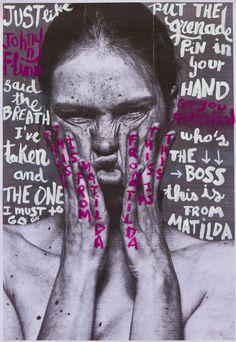 Handmade typography by Maria Aguado