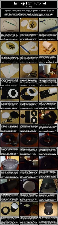 The Tip Top Hat Tutorial by *chioky on deviantART