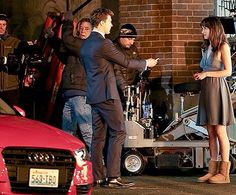 When Christian gives Ana the red Audi ~ Fifty Shades of Grey