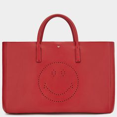 Smiley Maxi Featherweight Ebury Fall Winter, Autumn, Anya Hindmarch, Smiley, Luxury, My Style, Leather, Bags, Collection