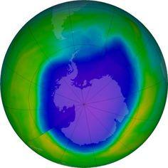 Buraco na Camada de Ozônio na Antártida, leituras do período de 1979 a 2015, ainda vermos os efeitos até 2070  segundo nasa