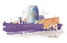 Khiva, Uzbekistan. Watercolours by Ole Sondergaard