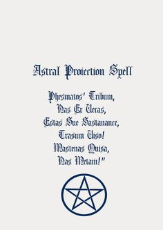 Book Of Shadows Pages: Astral Projection Spell