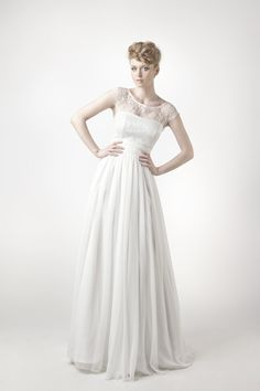 SADONI Collection 2014 - Dress SENA with SUN top in nostalgic French lace and fluid silk chiffon