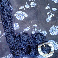cintura in cotone interamente realizzata uncinetto Belts, Handmade, Accessories, Hand Made, Craft, Handarbeit, Ornament