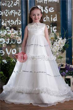 Atractivo Vestido de Damita Ball Gown y Largo al Piso (Envío Gratuito )