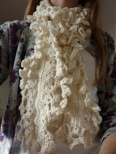 Handmade By Hannah: Lacy Crocheted Scarf