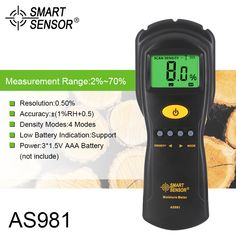 SMART SENSOR AS981 Digital Moisture Meter Mini Wood Humidity Detector With LCD Display. Yesterday's price: US $70.04 (57.53 EUR). Today's price: US $32.22 (26.23 EUR). Discount: 54%.