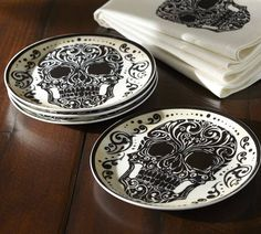 Day of the dead plates #skulls
