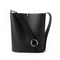 Genuine Leather Bucket Bag Crossbody Bag Shoulder Bag Purse For Girls Women