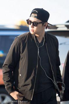 140920 JYJ at Incheon Airport heading to Shanghai - Park Yoochun