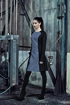 Fractures WOOL black and ice grey DRESS dark by Fractureswear, €120.00