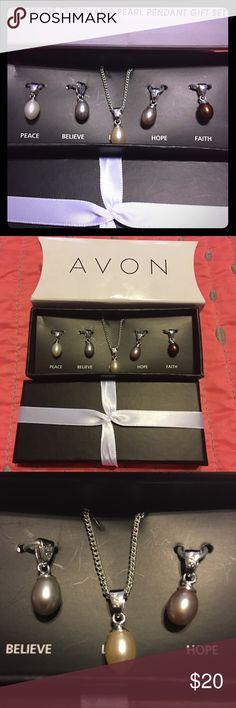 Avon Genuine freshwater pearl gift set NIB Avon Genuine freshwater pearl gift set NIB Avon Jewelry Necklaces