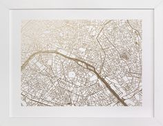 Paris Map by Alex Elko Design at minted.com