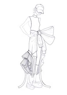 Leandro Benites / sketch / fashion illustration / desenho