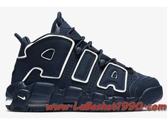 Nike Air More Uptempo 415082-401 Chaussures de BasketBall Pas Cher Pour  Homme Navy White