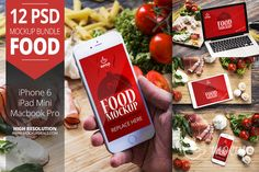 12 PSD Mockups Food by Mocup, mocup.com on Creative Market
