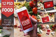 12 PSD Mockups Food by Mocup, mocup.com on Creative Market