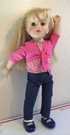 """18"""" 2007 MADAME ALEXANDER DOLL BLONDE HAIR BLUE EYES Shoes And Clothes #Dolls"""