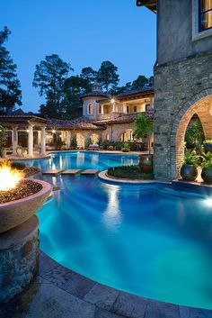 Swimming pool idea and landscaping design.