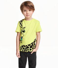 T-Shirt mit Druck | Hellgelb/Giraffe | Kids | H&M DE