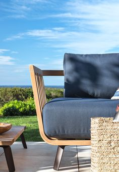 Right module Welcome in teak cm 138 - Unopiù Outdoor Chairs, Outdoor Furniture, Outdoor Decor, Sofas, Armchairs, Cushions, Module, Colours, Benches