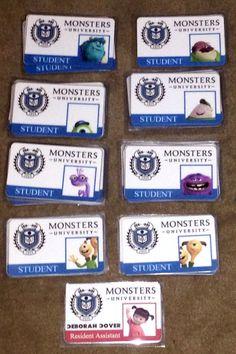 Move-in door tags , RA door decs, Texas Wesleyan, monsters inc, monsters university door dec, door decorations