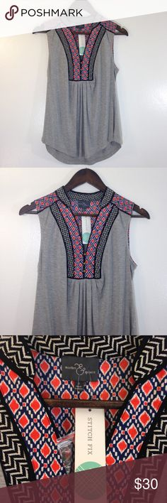 """Market and Spruce Sleeveless Top Soft sleeveless shirt by Market and Spruce. Light weight and loose fitting. Length 26"""". 92% rayon, 8% spandex. Market and Spruce Tops"""