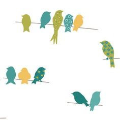 York Wallcoverings York Wallcoverings Bistro 750 Bird On A Wire Wallpaper