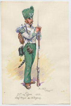 31e Léger 1812  Sergent Major de Voltigeurs