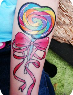 Colourful Lollipop with Bow