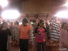 Everyone gets involved in the traditional music and dance at the river lodge for their last nights' stay at Bilit Village :)
