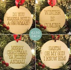 Laser Cut Frozen, Game of Thrones, Home Alone and Elf Christmas Decorations by Strange