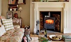 A restored farmhouse in the Welsh countryside. This looks comfy and so inviting, doesn't it?