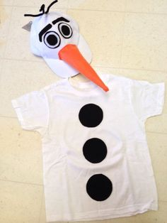 Frozen Disney Olaf The Snowman Halloween Costume Homemade  @frozenFans #costume #olaf #halloween