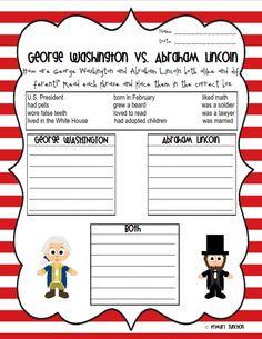 President's Day Classroom Freebies: George Washington & Abraham Lincoln Reader & Sorting Sheets