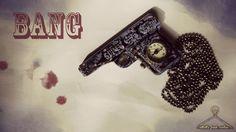 Collana Pistola Orologio - Bang : Collane di rebirthsfreakrainbow