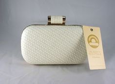 Big Buddha Maddi Cream Clutch Handbag NWT Vegan | eBay $63
