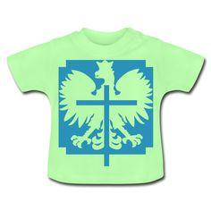 Polska Crucifix Baby Shirt Mintgrün [Lila/Samtig] - Baby T-Shirt