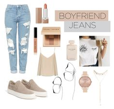 """B o y f r i e n d"" by domeroman on Polyvore featuring moda, Topshop, Elie Saab, Marc Jacobs, Bobbi Brown Cosmetics, Raey, Olivia Burton y South Moon Under"