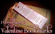 Create touching bookmarks that highlight the Bible verse 1 Corinthians 13.  Using paint sample cards from your local home improvement store and soft vellum paper, children can learn this beautiful scripture while they create a wonderful gift for someone special, or one to keep for themselves as a constant reminder of the true meaning of Love!