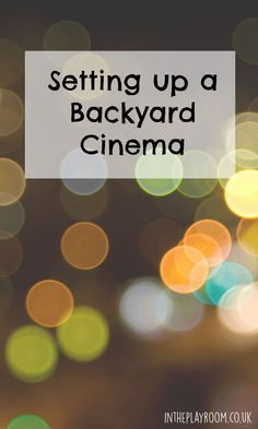Setting up a backyard cinema. All the equipment you need to project a movie in your garden, or anywhere outdoors. This makes a perfect summer party for all the family