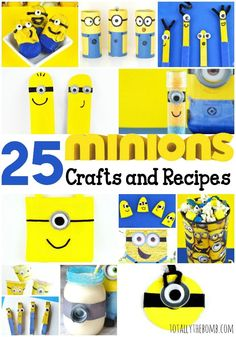 25 Mischievous Minion Crafts and Recipes                                                                                                                                                                                 More