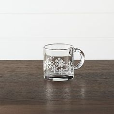Snowflake 13 oz. Glass Coffee Mug