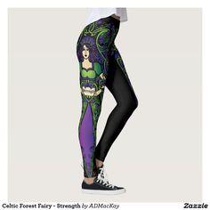 Celtic Forest Fairy - Strength Leggings for sale.