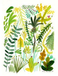 Jungle // painted leaves