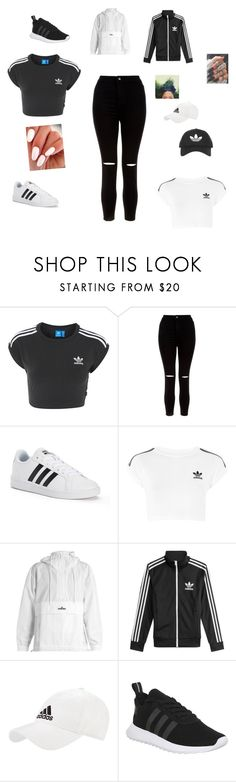 """Untitled #127"" by deedee364 ❤ liked on Polyvore featuring adidas, New Look and Topshop"