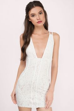 This white lace bodycon dress is definitely heaven sent.
